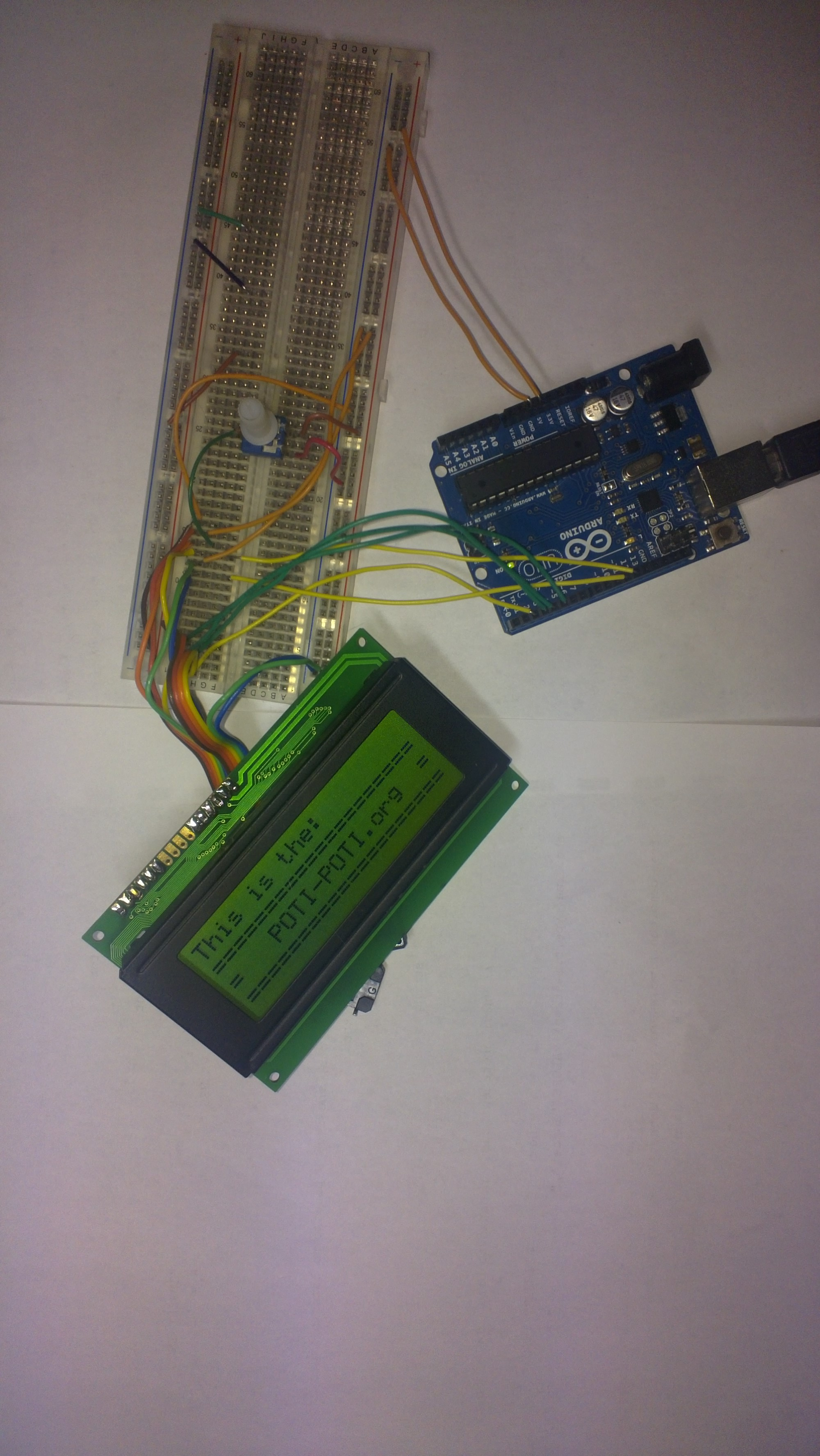 POTI-POTI ORG » How to connect 20×4 LCD screen to arduino and make